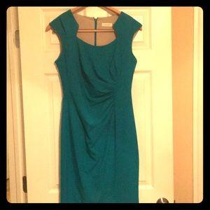 Beautiful teal Calvin Klein dress size 8